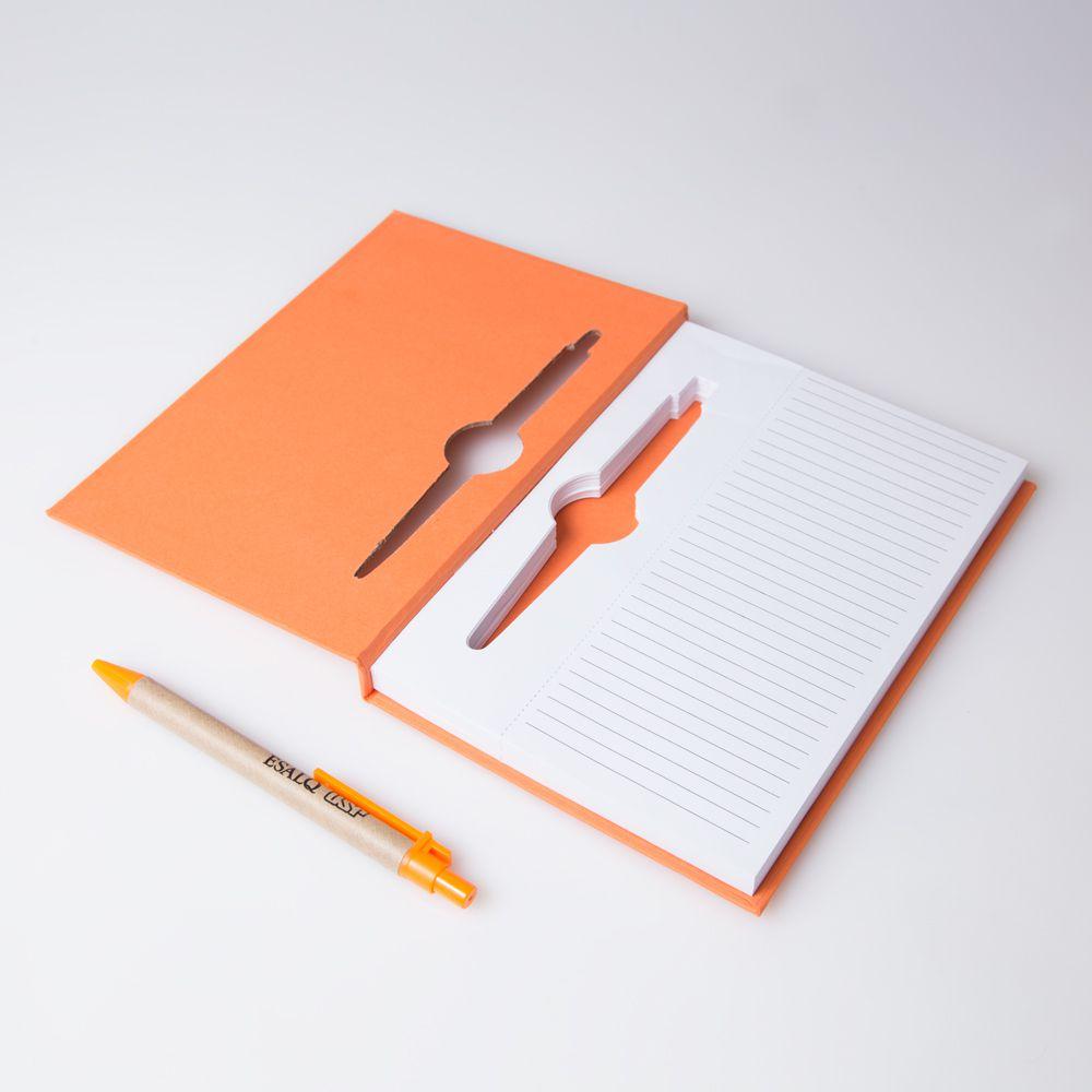 bloco de anotações Vitral Laranja