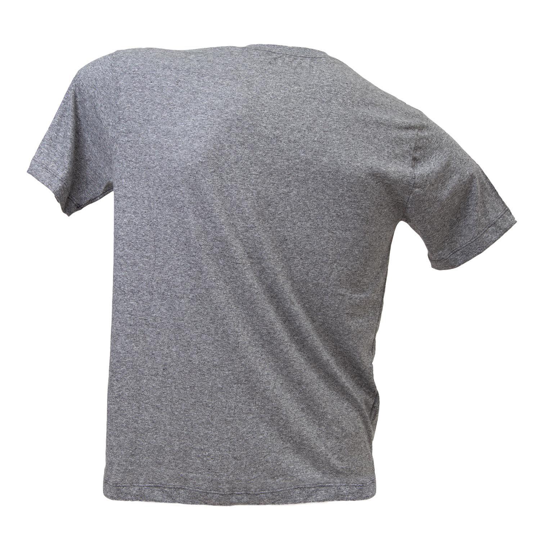 Camiseta clássica cinza logo vermelho ESALQ 1901