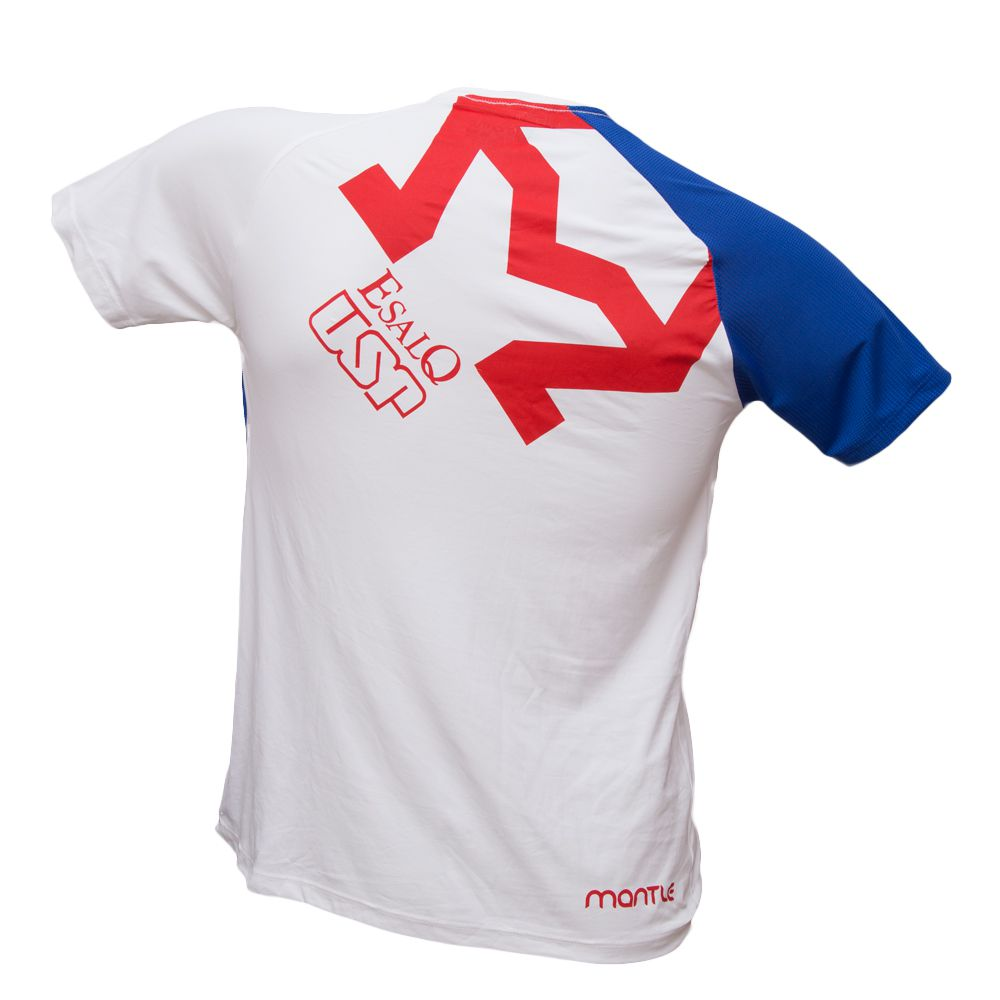 Camiseta Dryfit branca e azul