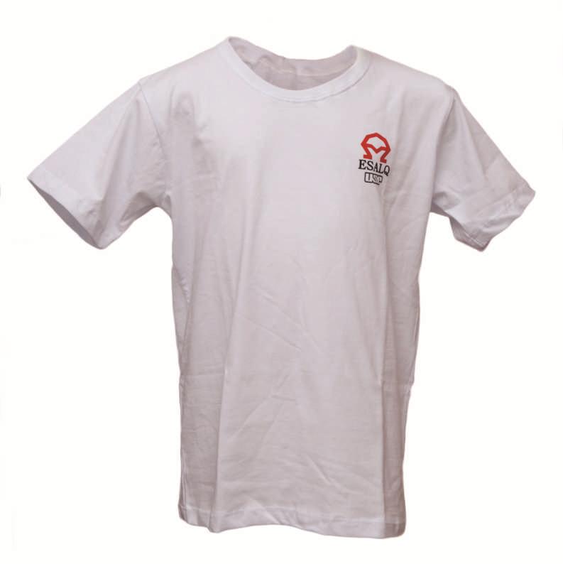 Camiseta INFANTIL Branca A Encarnado