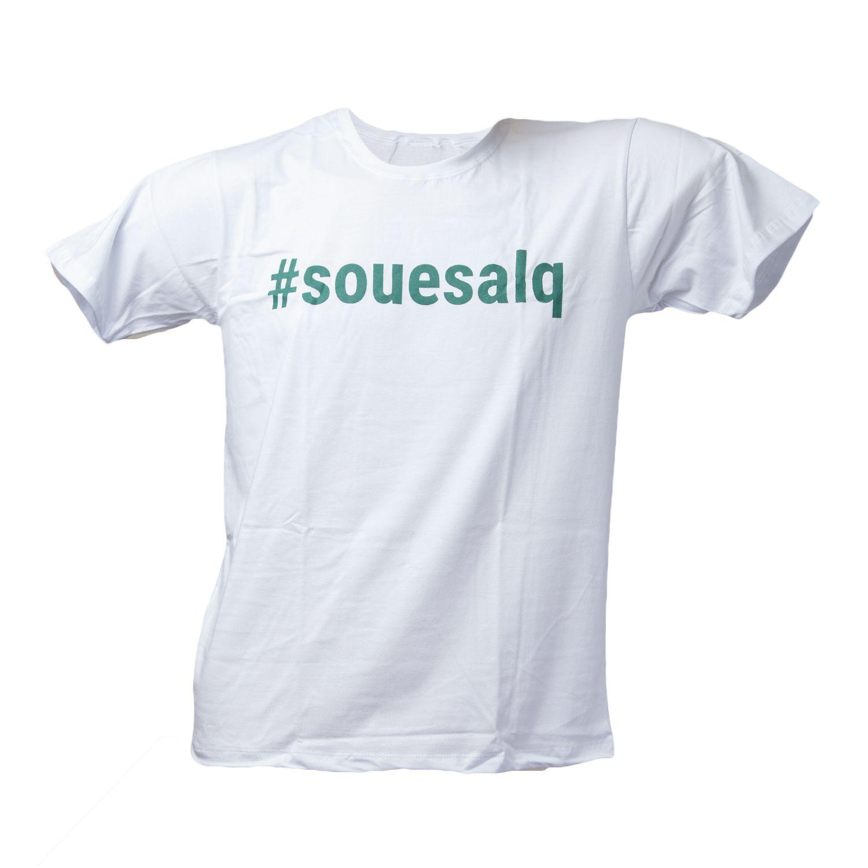 Camiseta Masculina Branca #SOUESALQ