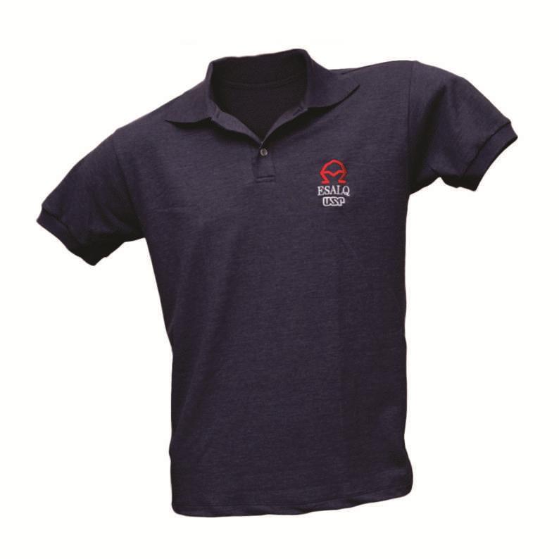 Camiseta Polo Masculina Azul Marinho ESALQ