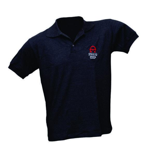 Camiseta Polo Masculina Mescla Azul