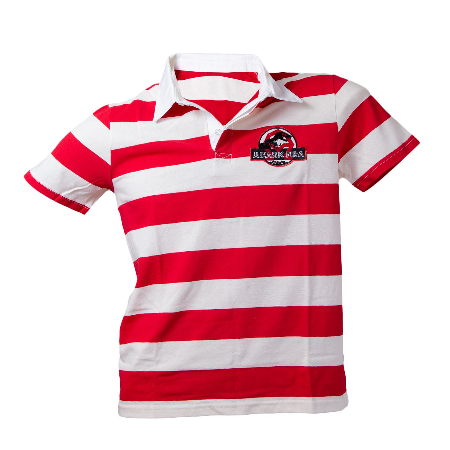 Camiseta polo time Jurassic pira rugby