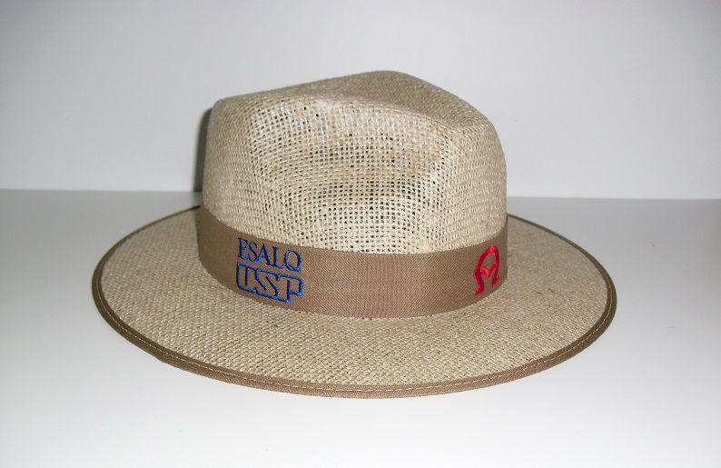 Chapéu de juta A encarnado
