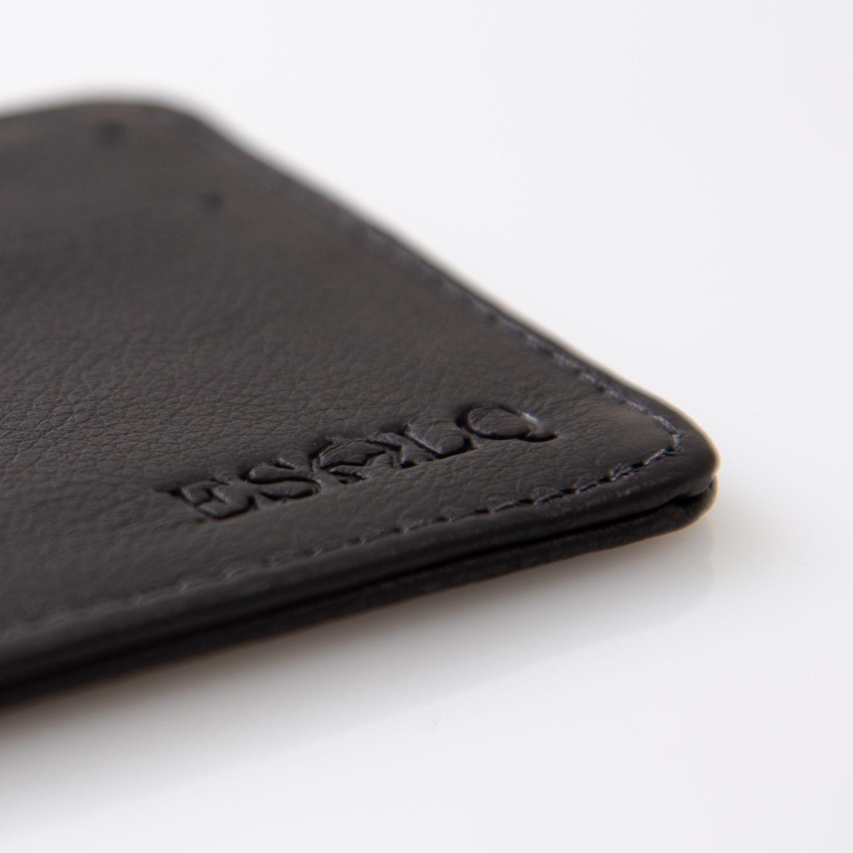Porta cartão de couro preto ESALQ