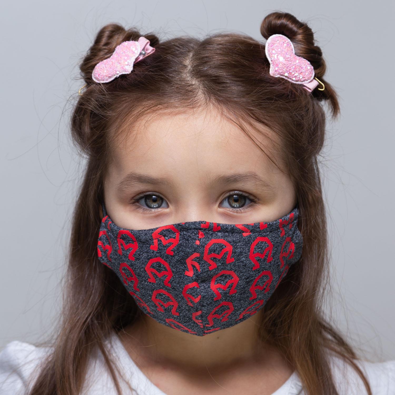 Máscara INFANTIL cinza A encarnado