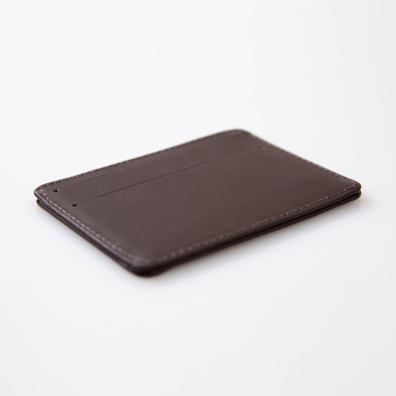Porta cartão de couro marrom ESALQ