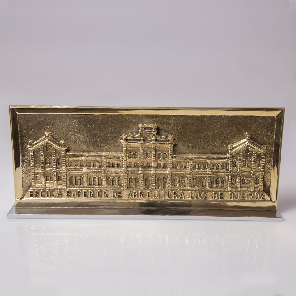 Placa Predio Central Dourado