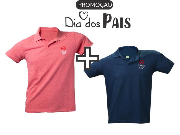 PROMOÇÃO Camisas Polo Mescla Vermelho + Azul marinho