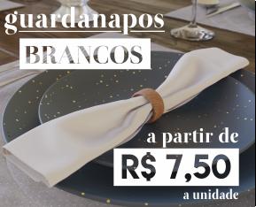 Banner Guardanapos Brancos Mesa Chiq