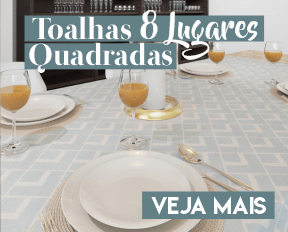 BANNER MESA CHIQ TOALHAS DE MESA RETANGULARES 6 LUGARES