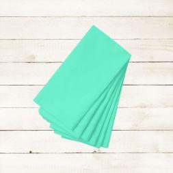 Kit com 8 Guardanapos Lisos Azul Claro de Algodão