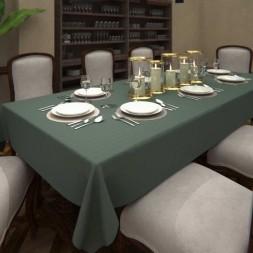 Toalha de Mesa de Linho Verde Musgo 10 Lugares Retangular