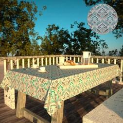 Toalha de Mesa Impermeável Retangular 4 Lugares Mil Arabescos