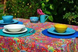 Toalha de Mesa Retangular 4 Lugares Índia Colors