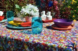 Toalha de Mesa Retangular 6 Lugares Branca Mil Flores