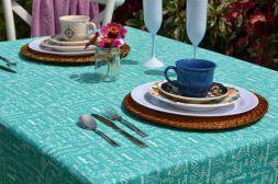 Toalha de Mesa Retangular 6 Lugares Verde Gourmet