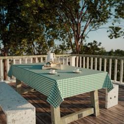 Toalha de Mesa Xadrez Verde Retangular 10 Lugares Classic