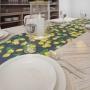 Caminho de Mesa Azul com Limões Sicilianos