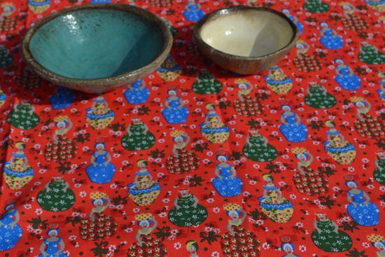 Conjunto Toalha de Mesa Retangular Estampada Vermelha Baiana com Guardanapos