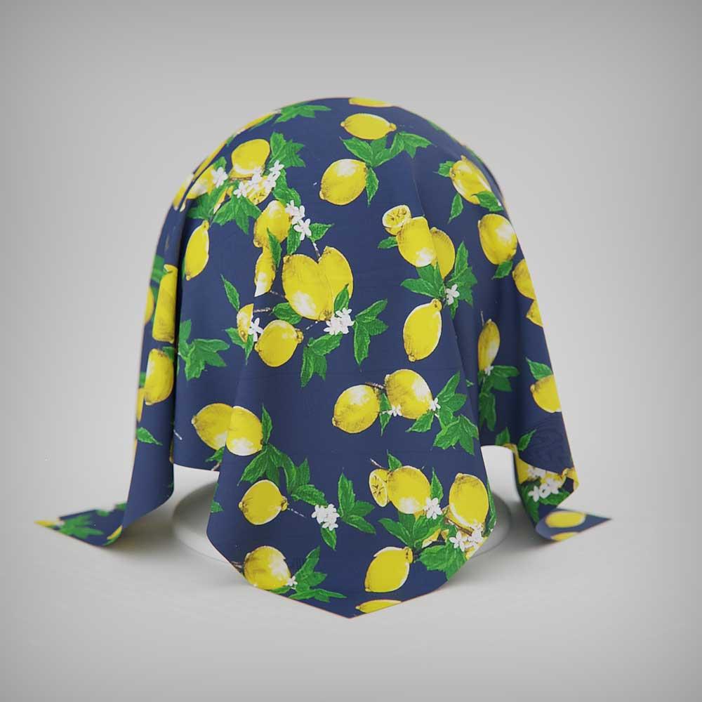 Jogo Americano Limões Sicilianos 4 Peças Dupla Face Azul