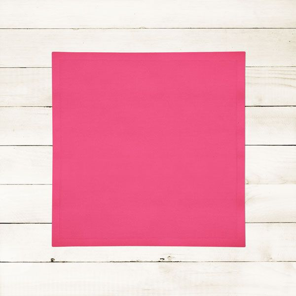 Kit com 10 Guardanapos Lisos Rosa Choque Pink de Algodão