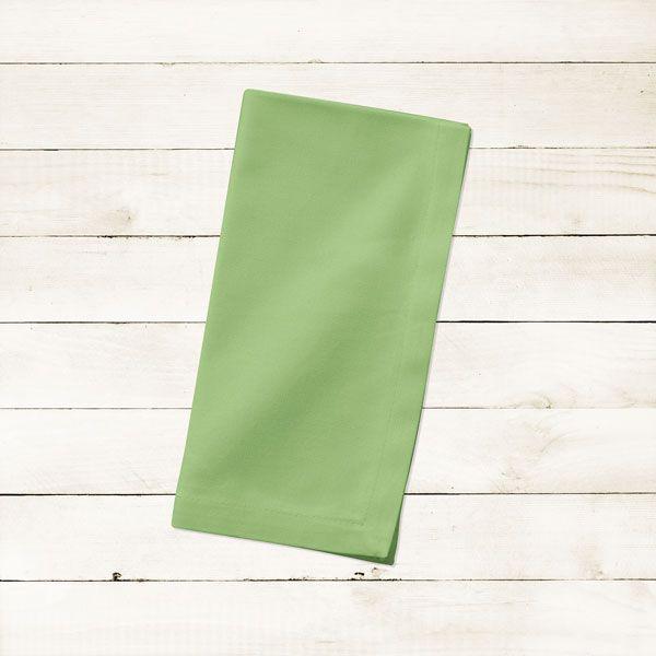 Kit com 10 Guardanapos Lisos Verdes Claros Abacate Avocado de Algodão