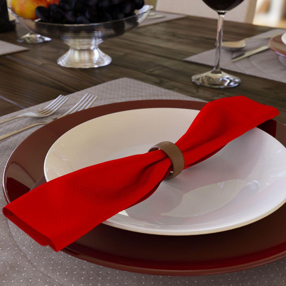 Guardanapo Vermelho de Tecido Algodão Kit com 10