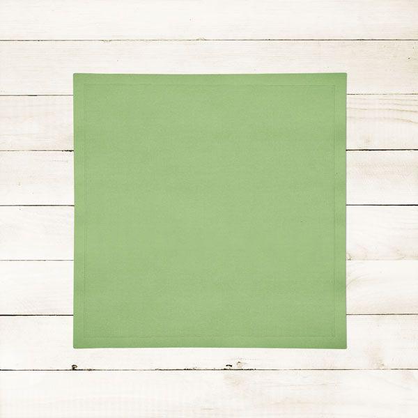 Kit com 12 Guardanapos Lisos Verdes Claros Abacate Avocado de Algodão