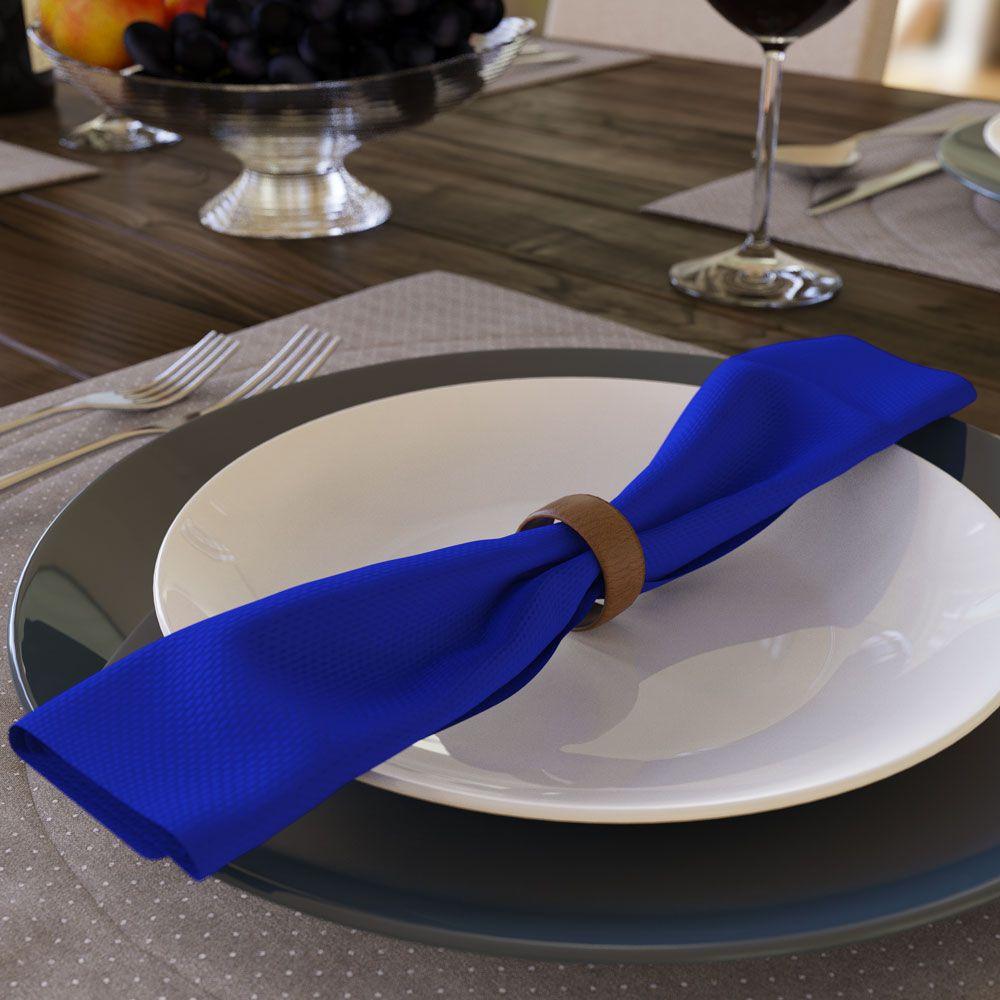 Kit com 6 Guardanapos Azul Royal de Oxford