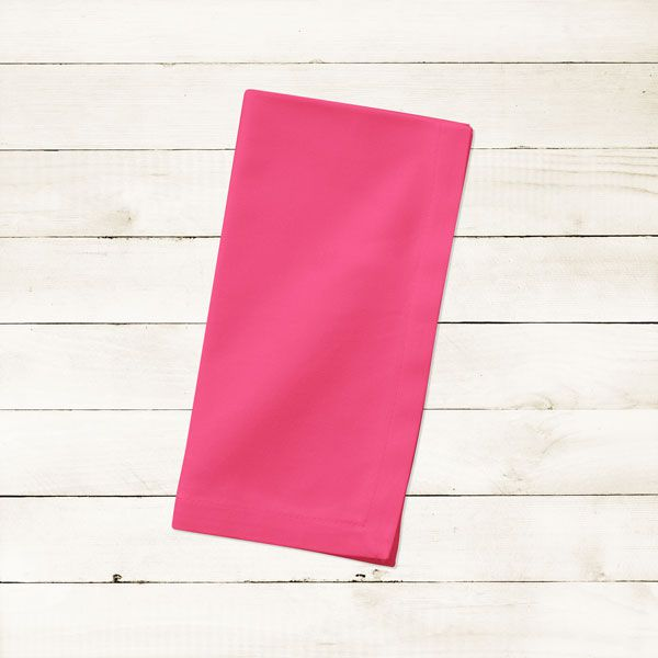 Kit com 6 Guardanapos Lisos Rosa Choque Pink de Algodão