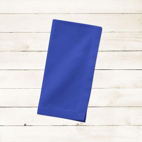 Kit com 8 Guardanapos Azul Escuro Liso de Algodão