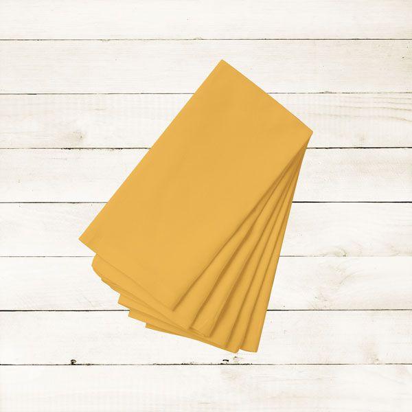 Kit com 8 Guardanapos Lisos Amarelo Queimado Dark