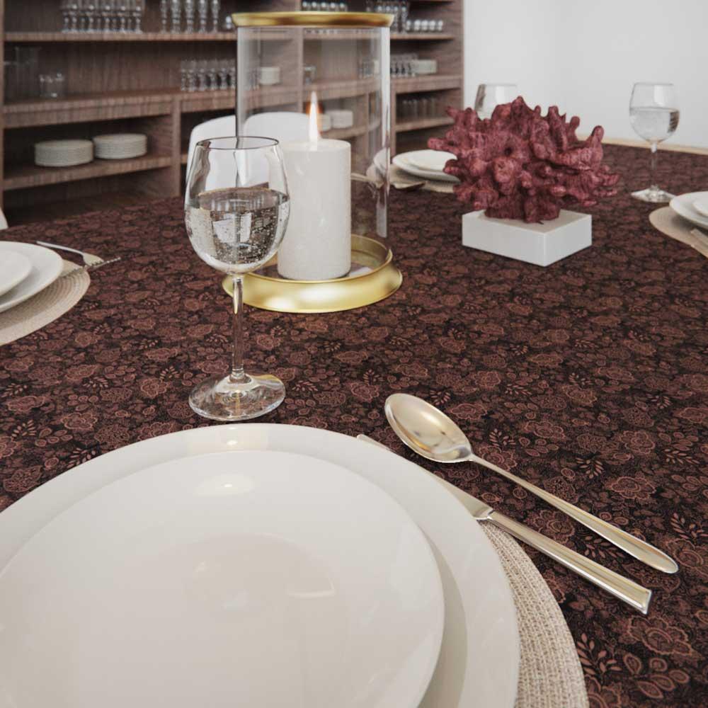 Toalha de Mesa 10 Lugares Retangular Arabesca Elegance