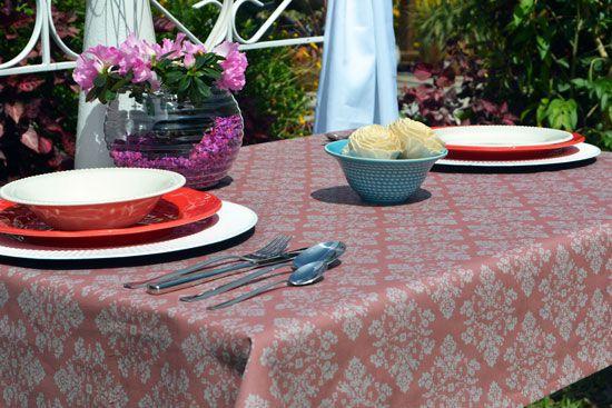 Toalha de Mesa 4 Lugares Retangular Arabesca Elegance