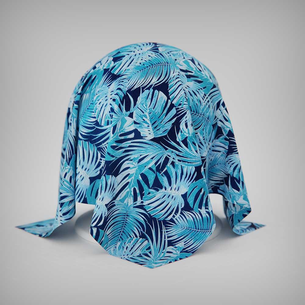 Toalha de Mesa Azul 10 Lugares Retangular Costela de Adão