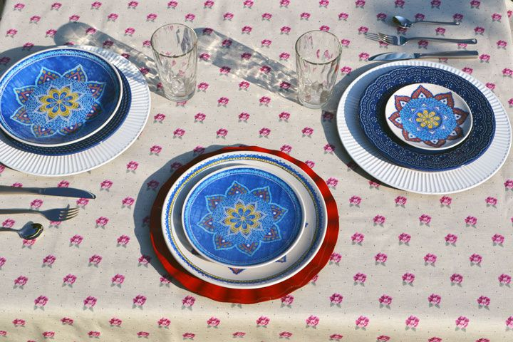 Toalha de Mesa de Linho Retangular 4 Lugares Retangular Floral Nobre