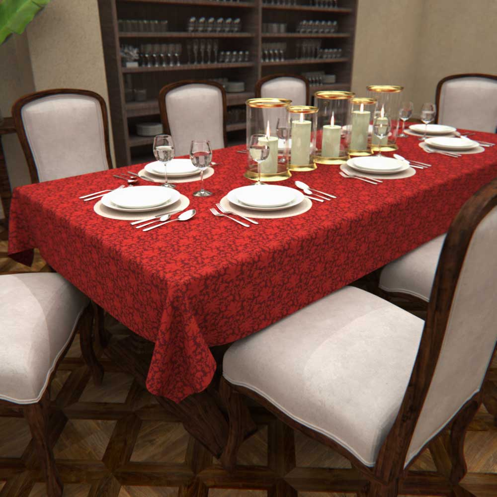 Toalha de Mesa de Natal Folha de Ouro 1,60 x 3,00