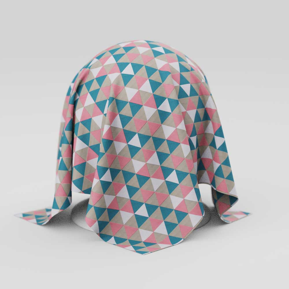 Toalha de Mesa Geométrica Retangular 6 Lugares com Triângulos Coloridos