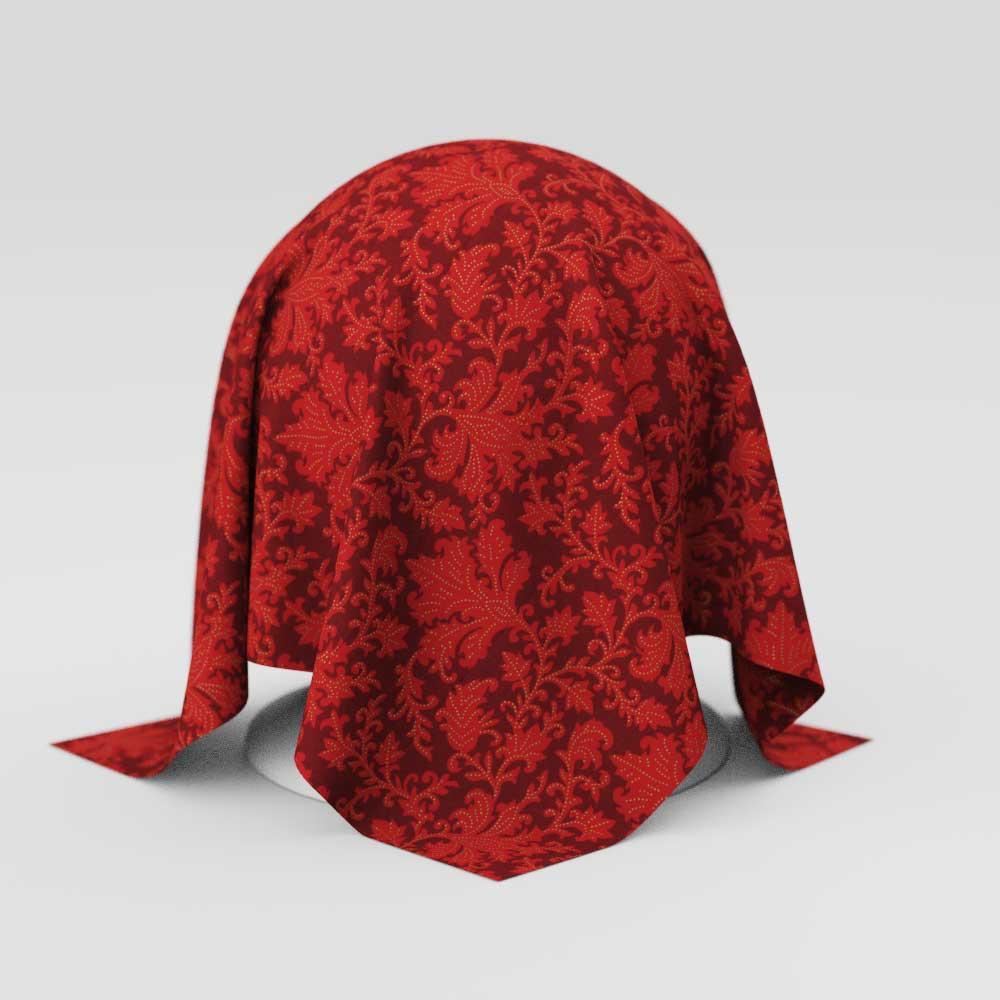 Toalha de Mesa Natalina Vermelha Retangular 10 Lugares Folhas com Dourado