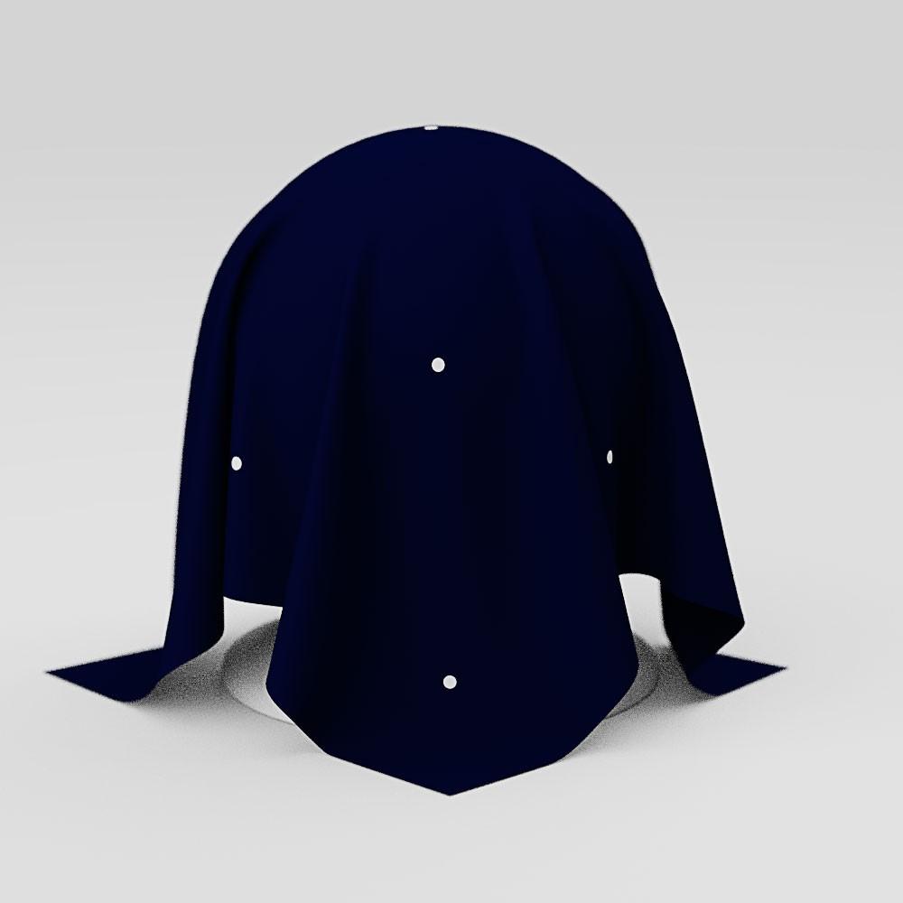 Toalha de Mesa Quadrada 4 Lugares Azul Escuro Poá