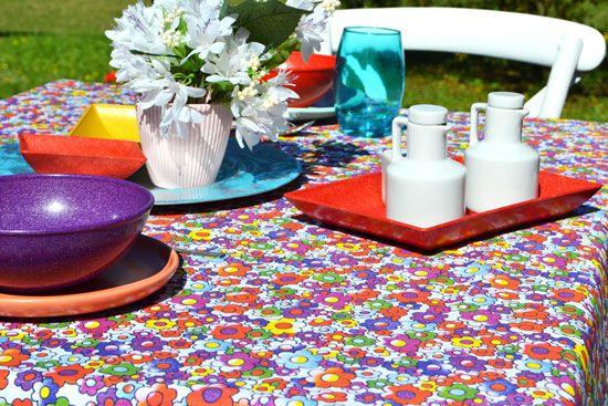 Toalha de Mesa Quadrada 4 Lugares Branca Mil Flores