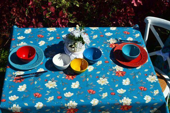 Toalha de Mesa Quadrada 4 Lugares Flores do Bosque