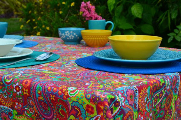 Toalha de Mesa Quadrada 4 Lugares Índia Colors