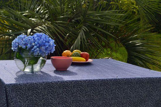 Toalha de Mesa Retangular 10 Lugares Azul da Noite