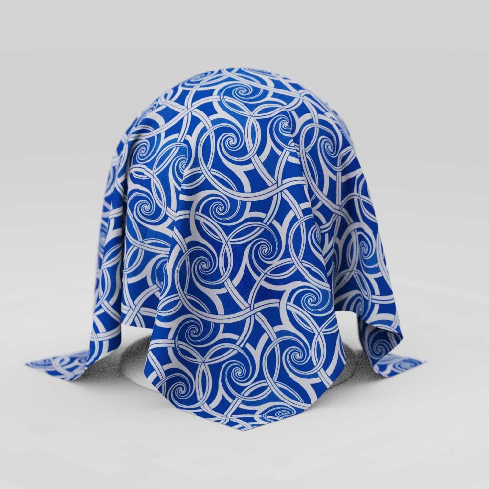Toalha de Mesa Retangular 10 Lugares Azul Sob Medida Aspirais