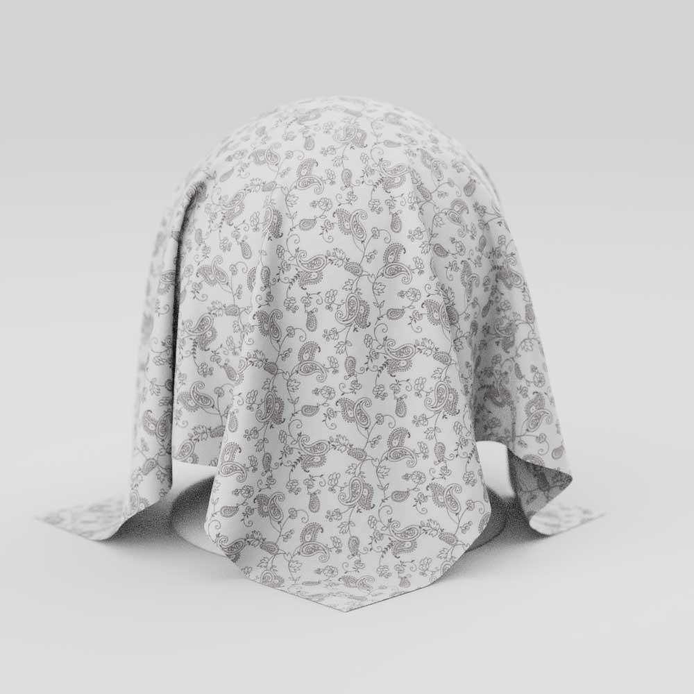 Toalha de Mesa Retangular 10 Lugares Branca Estampada com Arabescos