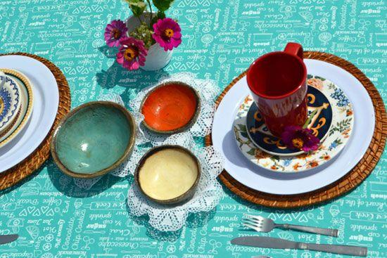 Toalha de Mesa Retangular 10 Lugares Verde Gourmet
