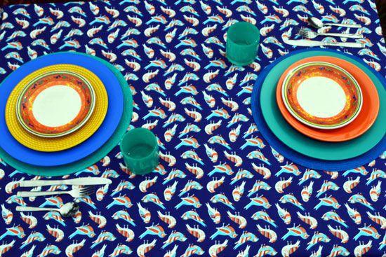 Toalha de Mesa Retangular 4 Lugares Ninho de Passarinho